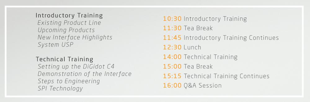 Digidot Training Agenda